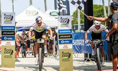 Henrique Avancini e Manuel Fumic na largada do Brasil Ride 2019