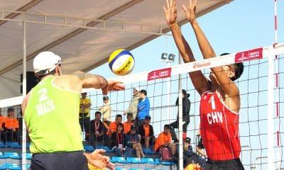 Hevaldo na etapa de Qinzhou do circuito mundial de vôlei de praia