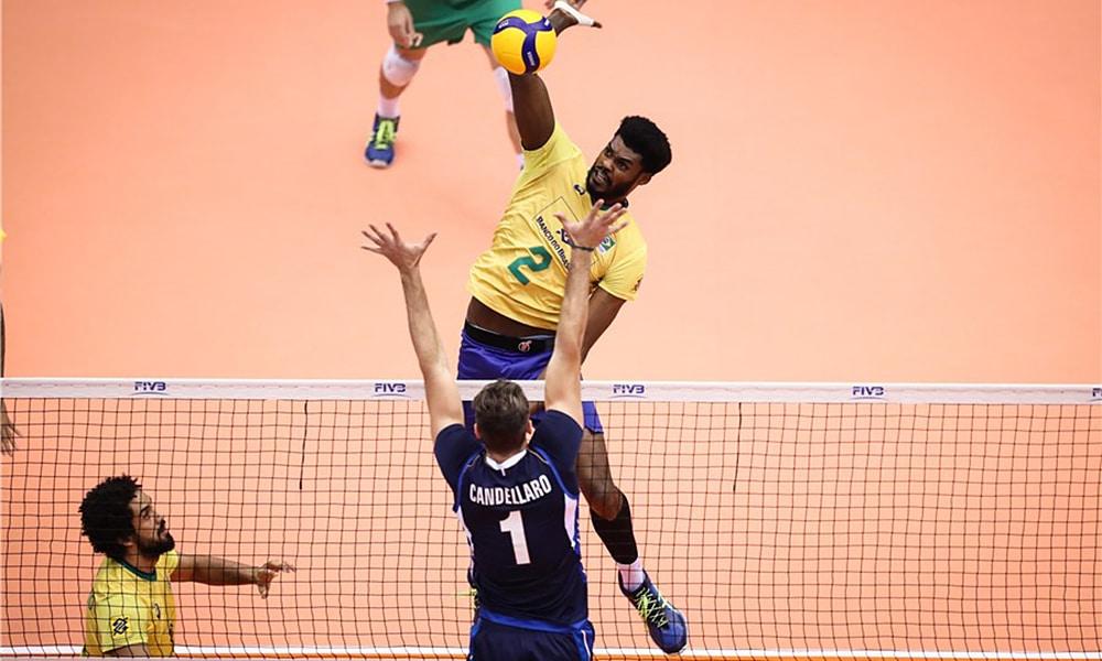 Isac - seleção brasileira de vôlei masculino - Jogos Olímpicos de Tóquio 2020 - central