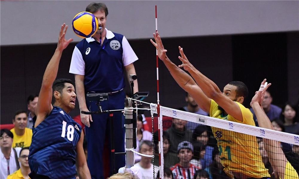 Brasil e EUA na Copa do Mundo de vôlei masculino