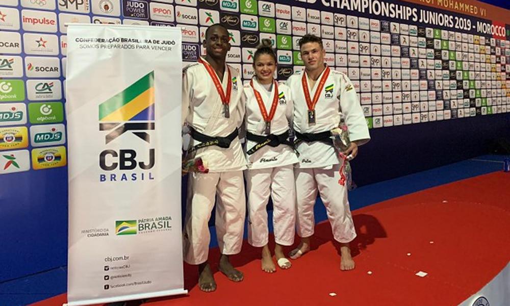 Medalhistas do Brasil no primeiro dia do Mundial Júnior de judô