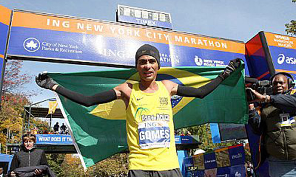 Marilson Gomes, no Hall da Fama da Maratona de Nova York - pandemia
