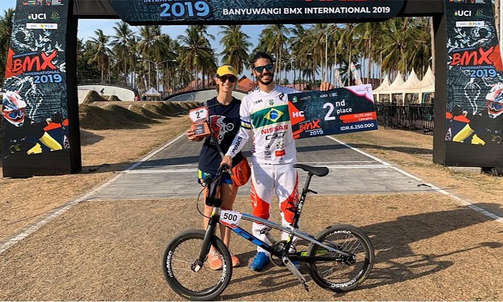 Renato Rezende é vice no Banyuwangi BMX International