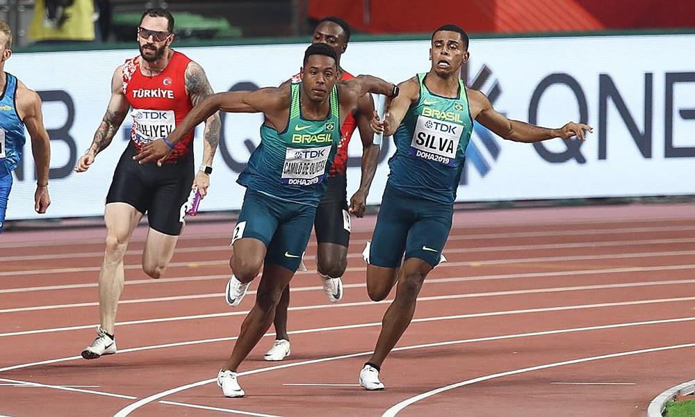 Revezamento 4x100m masculino no Mundial de Atletismo