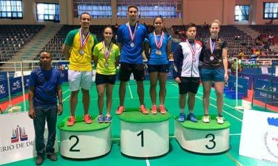 Brasil conquistou seis medalhas no Aberto de Badminton de Santo Domingo