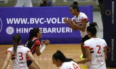 São Paulo F.C/Barueri vence nas quartas do Paulista de vôlei feminino