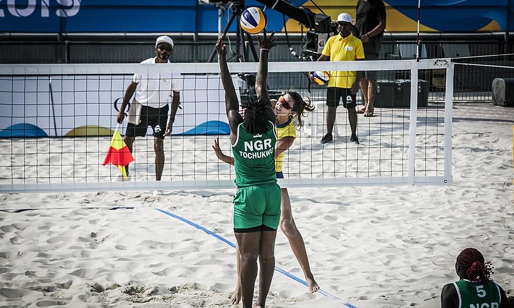 vôlei 4x4 nos Jogos Mundiais de Praia