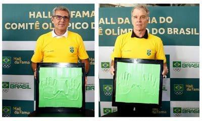 José Roberto Guimarães e Bernardinho no Hall da fama do COB