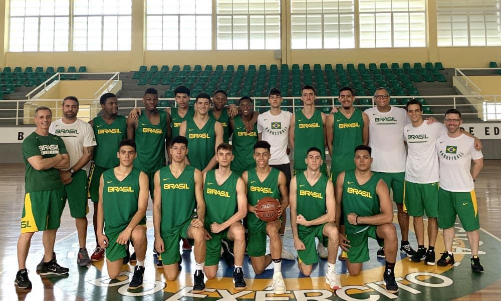 Seleção brasileira no sul-americano sub-17 de basquete