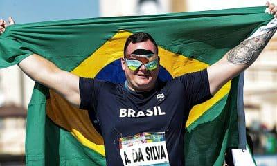 Alessandro Rodrigo foi ouro no Mundial de Atletismo Paralímpico de Dubai no lançamento de disco