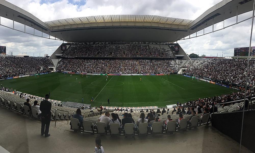 Arena Corinthians final contra o São Paulo Paulista de futebol feminino