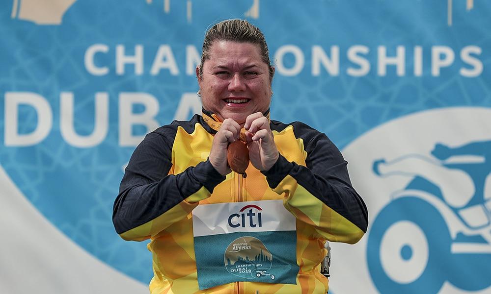 Beth Gomes e seu ouro no Mundial de Atletismo Paralímpico de Dubai