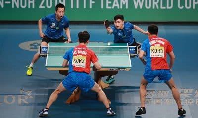Brasil e Coreia do Sul na Copa do Mundo por Equipes de tênis de mesa