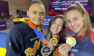Rafaela Araújo, Raiany Fidelis e Milena Titoneli vão ao pódio no China Open de tawkeondo