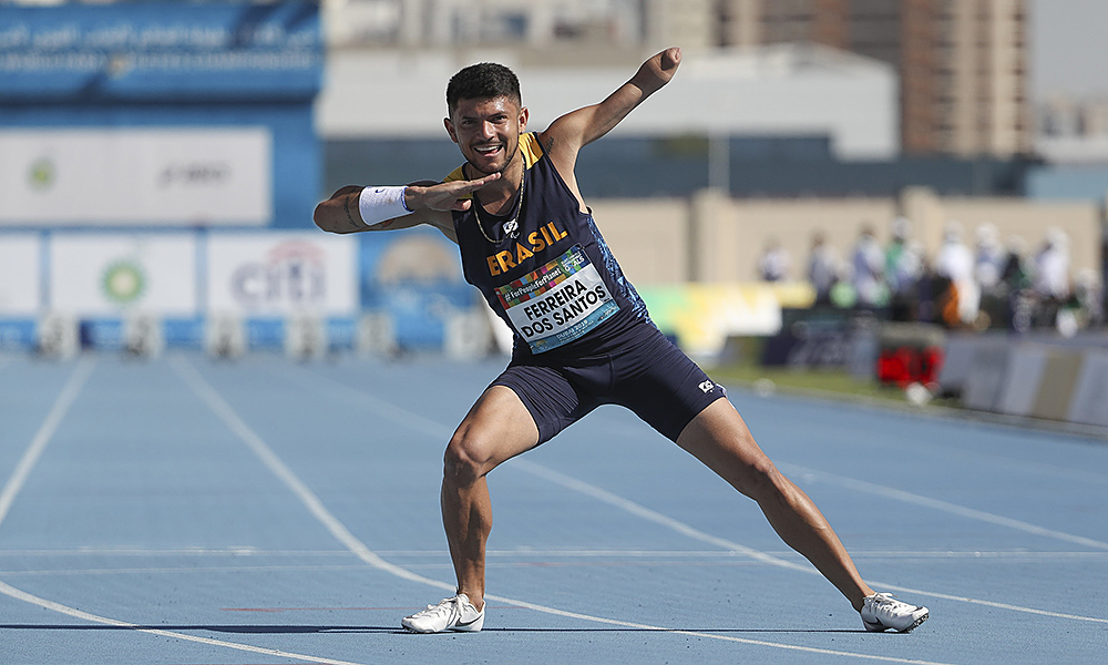 Petrúcio Ferreira no Mundial de Atletismo Paralímpico em Dubai tóquio