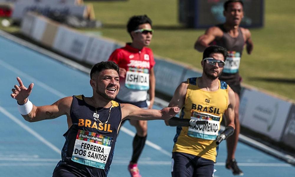 Petrúcio Ferreira e Yohansson Nascimento na semifinal do Mundial de Atletismo Paralímpico em Dubai