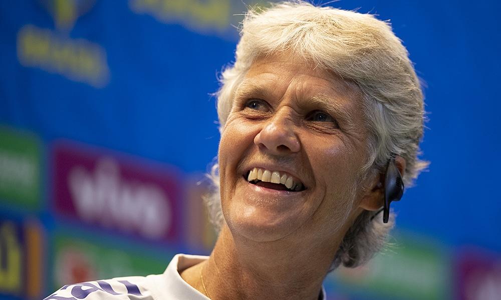 Pia Sundhage, técnica da seleção feminina do Brasil