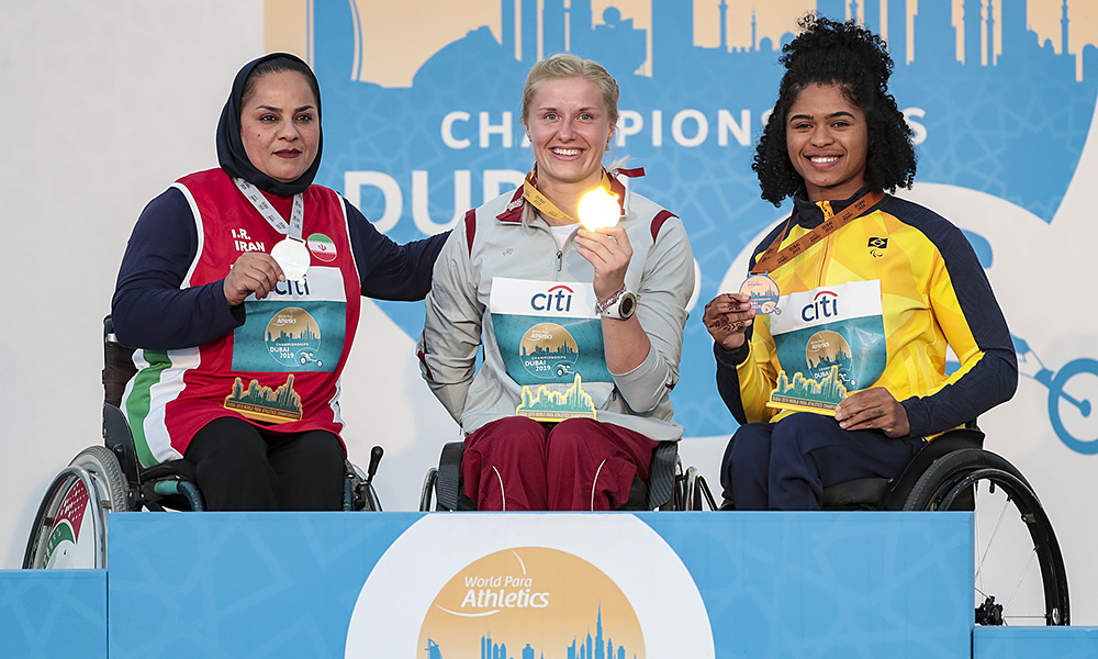 Raíssa Machado, medalha de bronze no Mundial de Atletismo Paralímpico