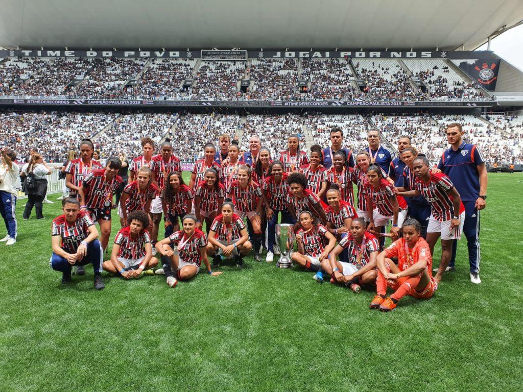 São Paulo, vice-campeão paulista de futebol feminino
