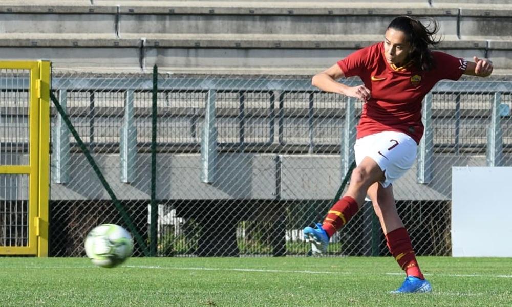 Andressa Alves marca para a Roma no Italiano de futebol feminino