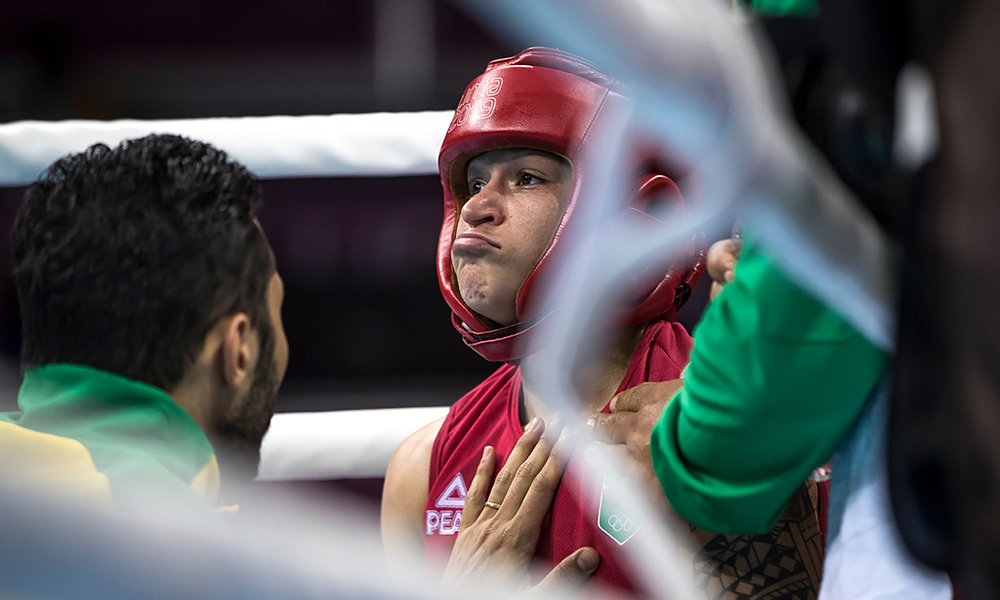 Bia Ferreira na seleção brasileira de boxe