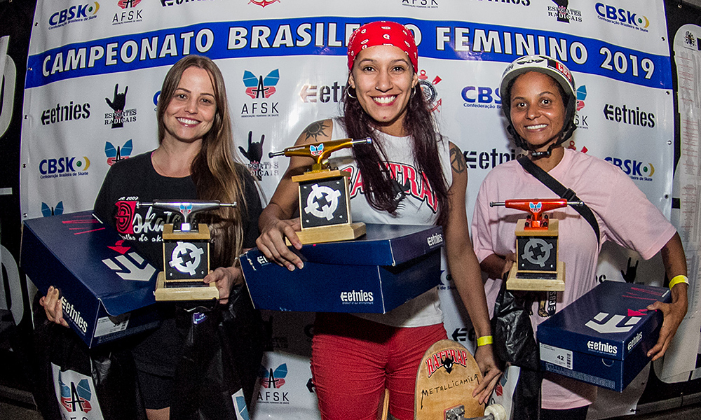 Brasileiro de skate feminino Pódio Banks Master