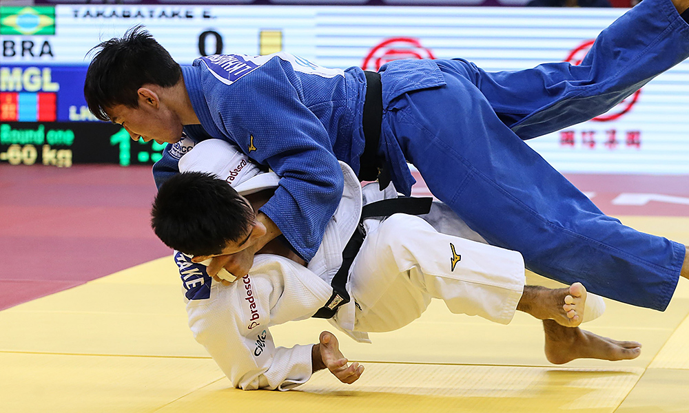 Eric Takabatake, no World Masters de judô