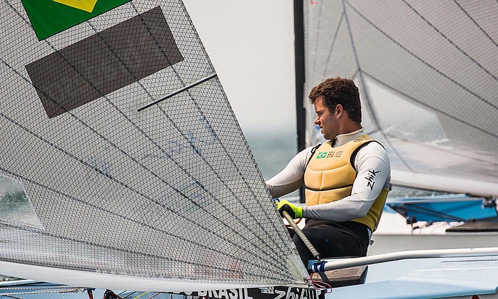 Jorge Zarif, na Finn Gold Cup de vela