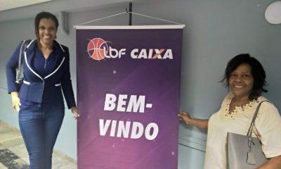 Kelly Santos e Lídia Lopes no evento da LBF