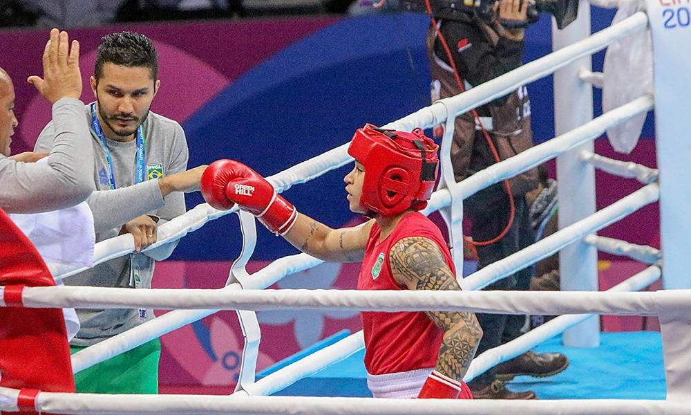 Bia Ferreira e Mateus Alves na seleção brasileira de boxe