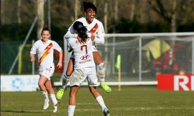 Andressa Alves e Lindsey Thomas na Roma contra o Milan pelo campeonato italiano de futebol feminino
