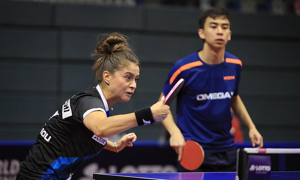 Bruna Takahashi e Vitor Ishyi no Aberto da Alemanha de tênis de mesa