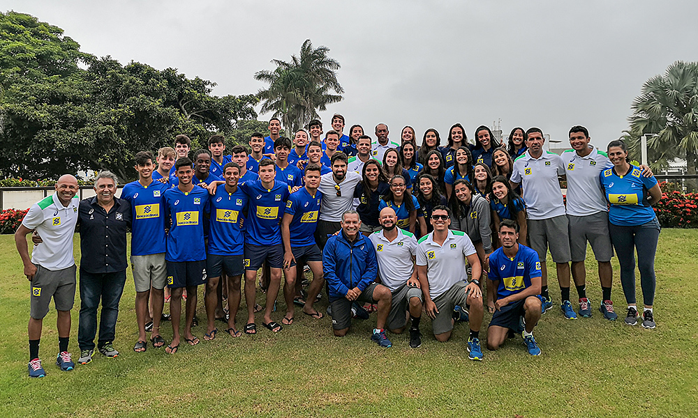 Camp de treinamento de vôlei de praia em Saquarema