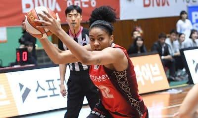 Damiris no Busan Sum pelo campeonato sul-coreano de basquete feminino