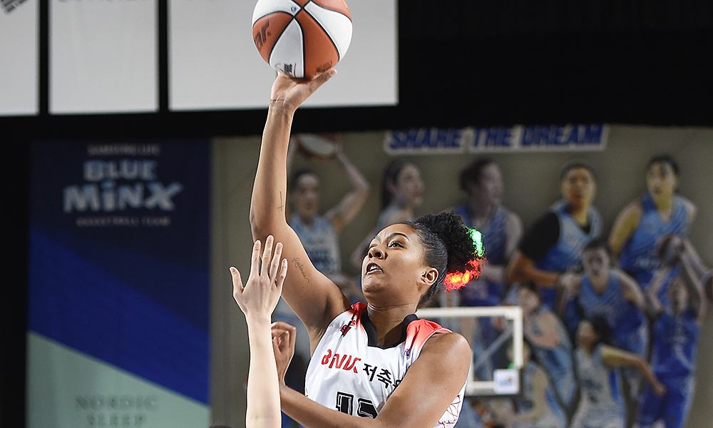 Damiris é destaque do Busan Sum no campeonato sul-coreano de basquete feminino