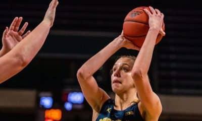 Izabel Varejão jogando pelo Michigan na NCAA - Foto: Instagram/Jake Szetela