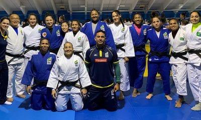 seleção brasileira de judô em campo de treinamento em Mittersill, na Áustria