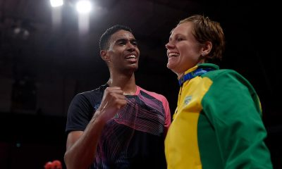 Ygor Coelho e Nadia Lyduch no badminton