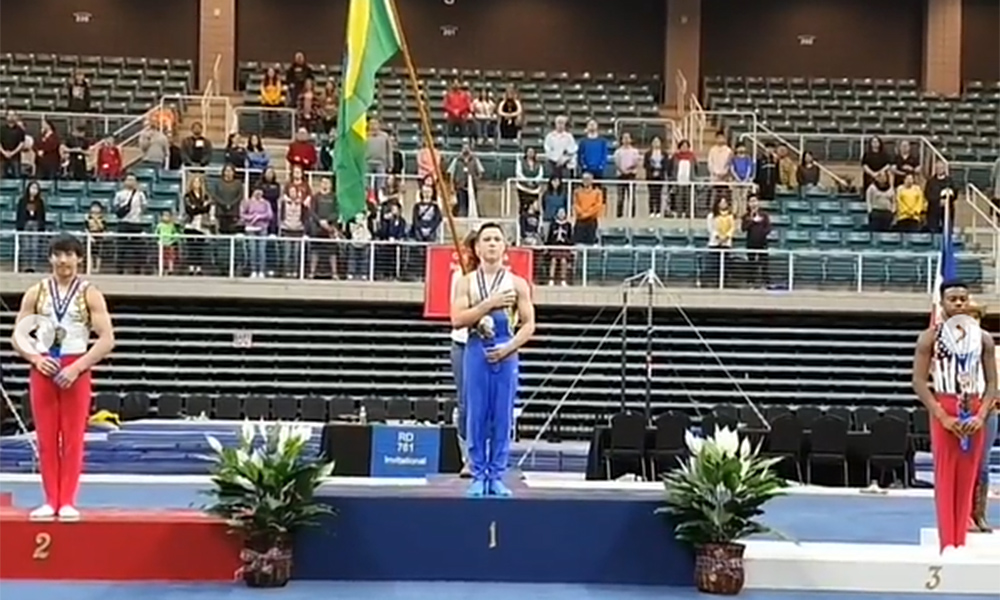Yuri Guimarães, ouro na ginástica artística em Houston