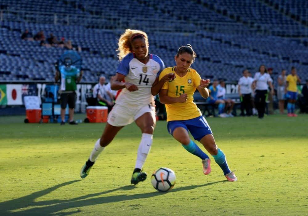 Brasil e Estados Unidos futebol feminino