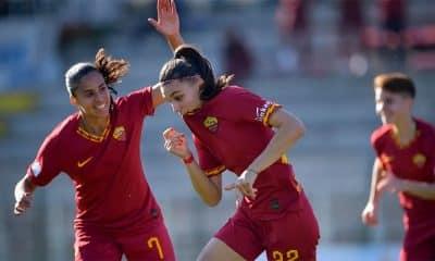 Andressa, da Roma, no campeonato italiano de futebol feminino
