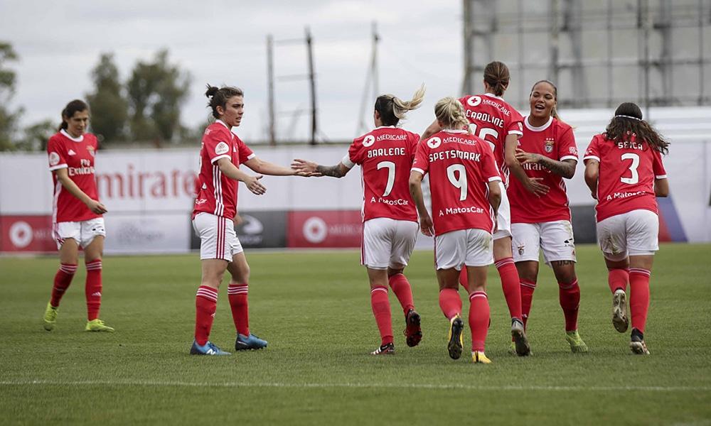 Futebol feminino do Benfica, de Darlene e Nycole