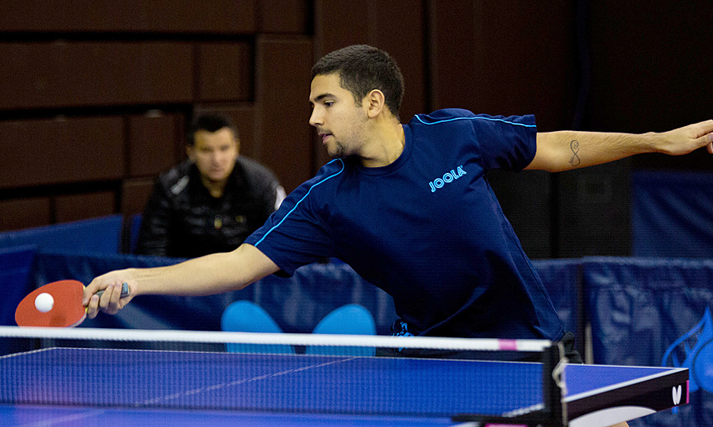 Guilherme Teodoro, no Aberto da Espanha de tênis de mesa