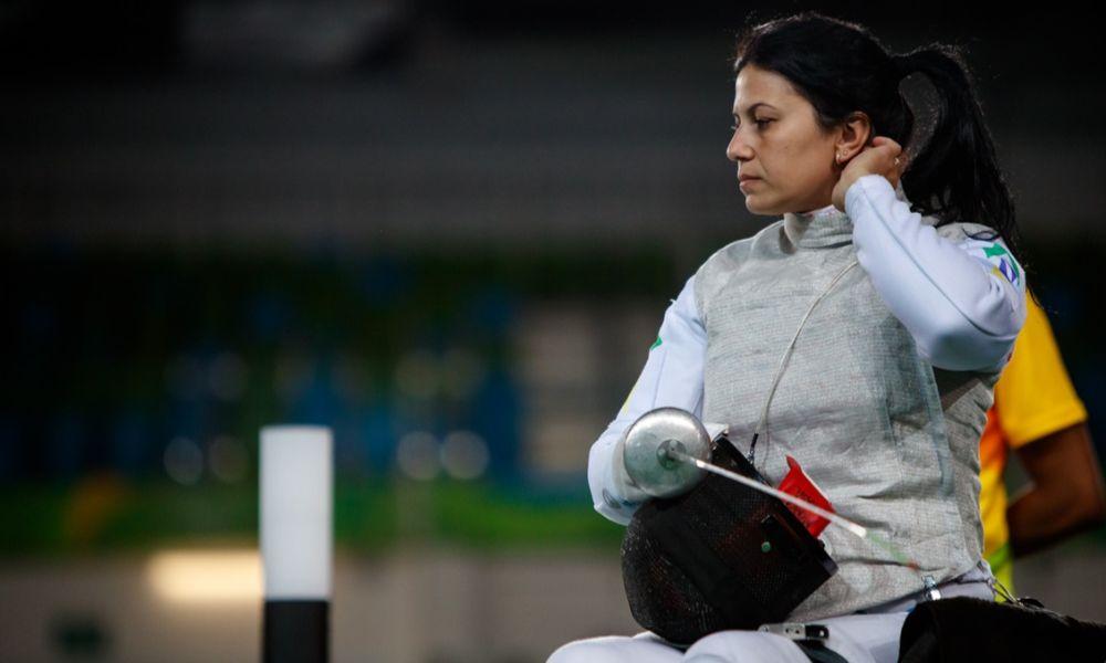 Mônica Santos conquista a medalha de bronze na etapa da hungria da copa do mundo de esgrima - Foto: Gabriel Heusi/Brasil2016.gov.br