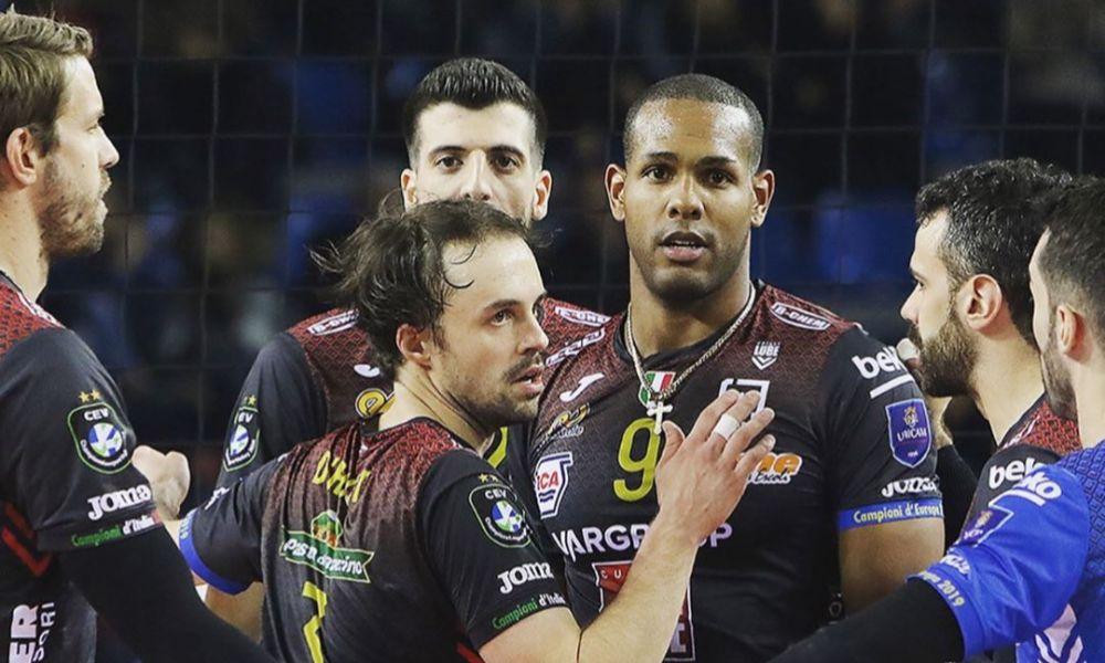 Lube Civitanova, time de Leal e Bruninho, venceu na Champions League de vôlei. (Foto: Divulgação/Civitanova)