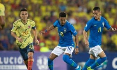 Brasil Seleção brasileira empata com Colômbia no pré-Olímpico - Foto: (Foto: Lucas Figueiredo/CBF)