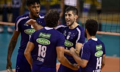 Cruzeiro enfrento Sesi-SP pela Superliga de vôlei masculino