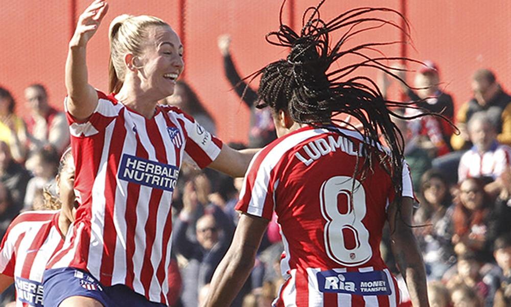 Ludmila, do futebol feminino do Atlético de Madrid