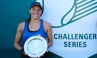 Luisa Stefani, campeã em NewPort, sobe posições no ranking mundial de duplas da WTA