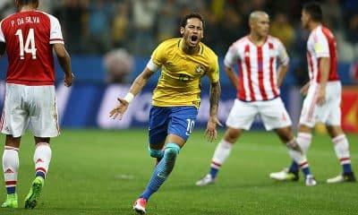 Neymar, pela seleção brasileira de futebol